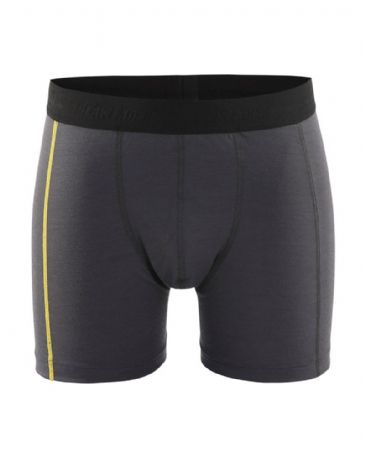 Blaklader 1847 Boxer Shorts XLIGHT 100% Merino (Dark Grey/Yellow)